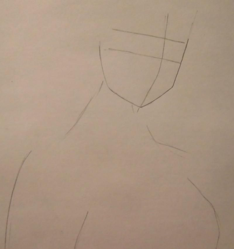 How to draw Nicko Robin from One Piece with a pencil step by step 2