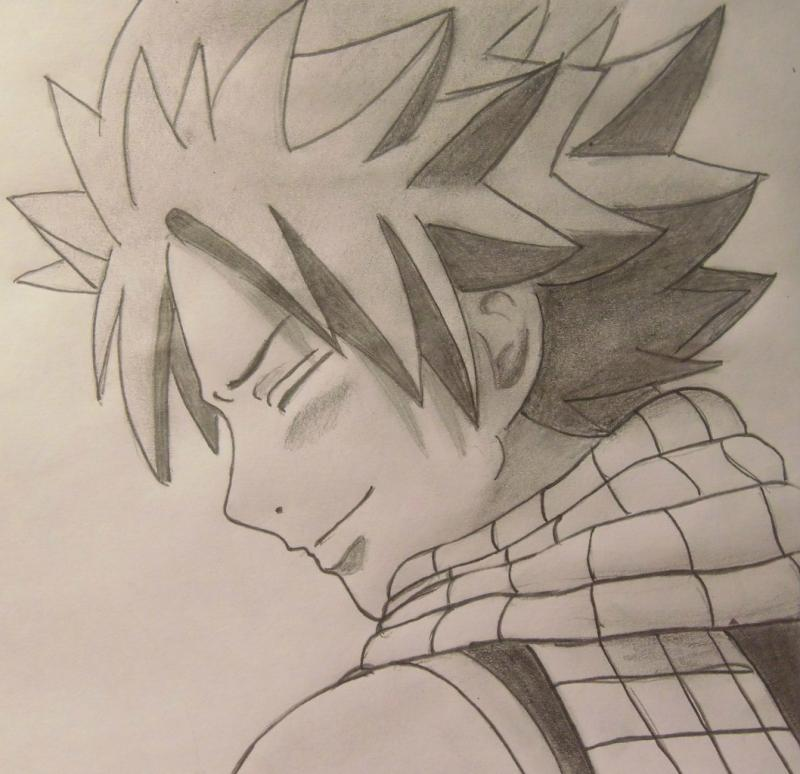 How to draw Natsu Dragnil from Fairy Tail step by step