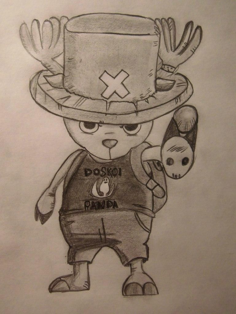 How to draw Tony Tony Chopper from One Piece step by step
