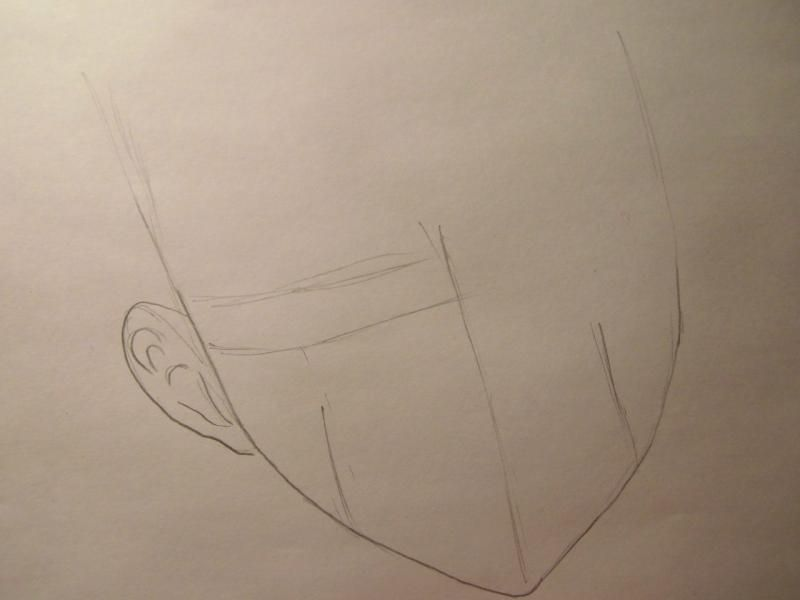 How to draw Len Tao (Lennie) from the Shaman King with a pencil 2