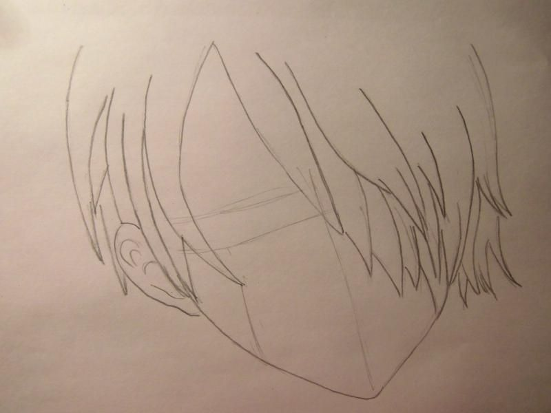 How to draw Len Tao (Lennie) from the Shaman King with a pencil 3
