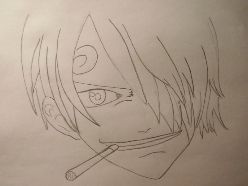 How to draw Len Tao (Lennie) from the Shaman King with a pencil 4