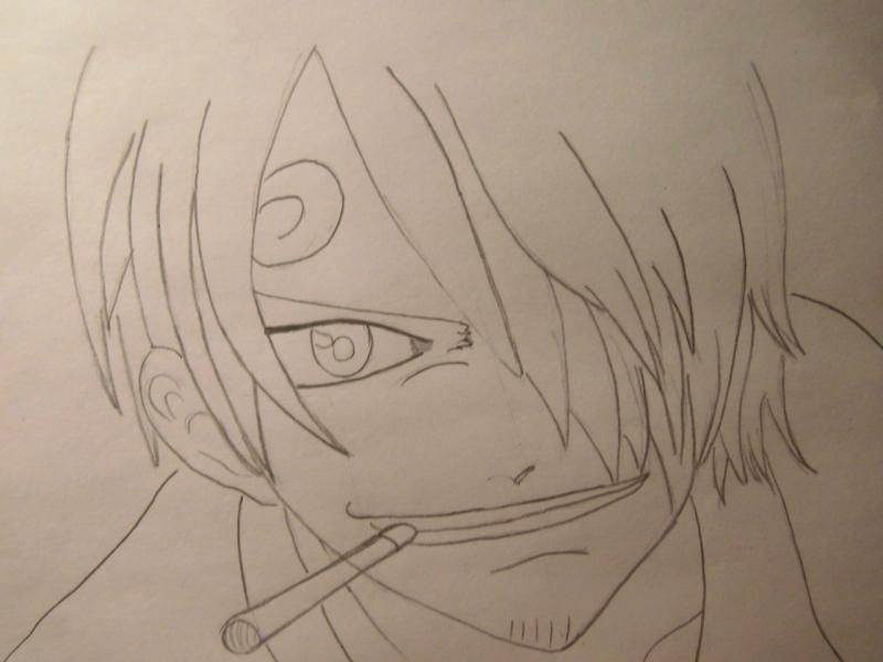 How to draw Len Tao (Lennie) from the Shaman King with a pencil 5