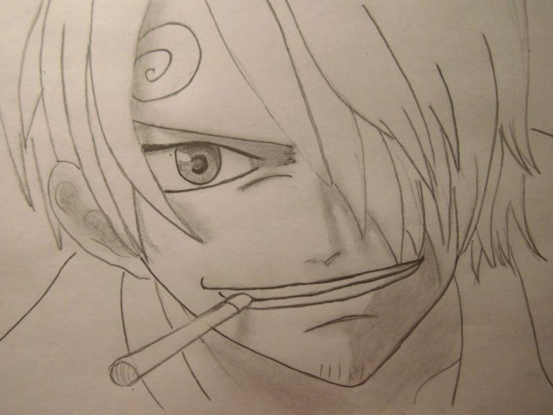 How to draw Len Tao (Lennie) from the Shaman King with a pencil 6