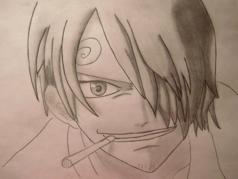 How to draw Len Tao (Lennie) from the Shaman King with a pencil 7