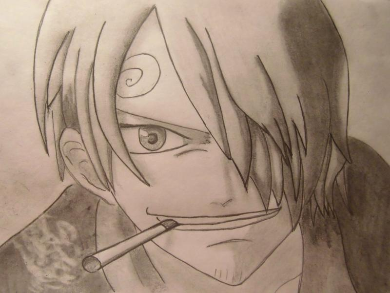 How to draw Sandzhi's portrait from One Piece step by step