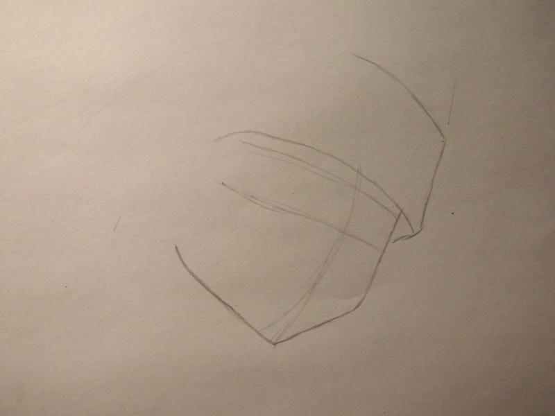 How to draw Yohe Asakura's head from the Shaman King step by step 2
