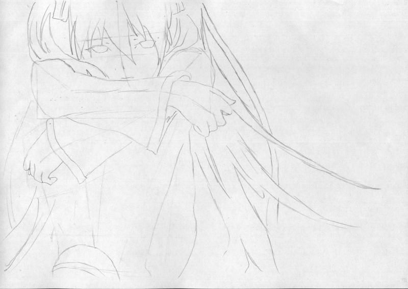 How to draw to Inori Yudzurikh from Guilty Crown with a pencil 4