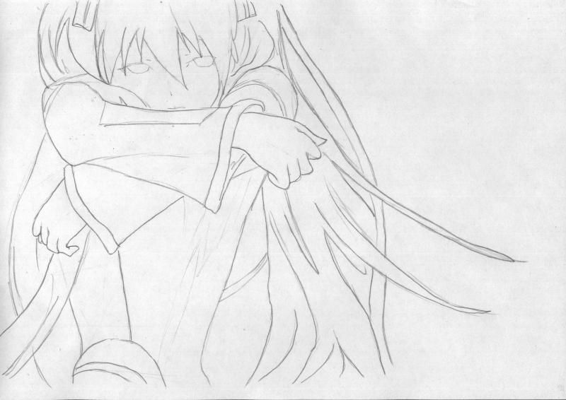How to draw to Inori Yudzurikh from Guilty Crown with a pencil 5