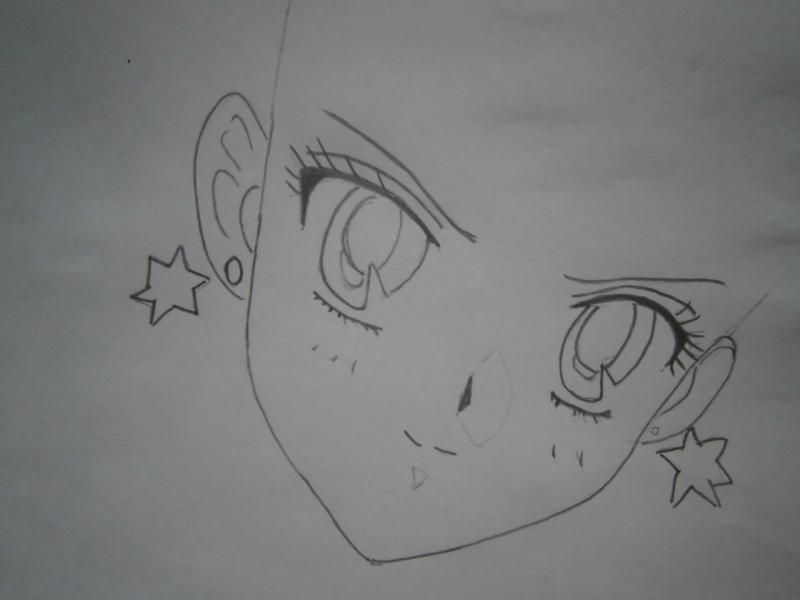 As will learn to draw an anime the girl in earphones 3