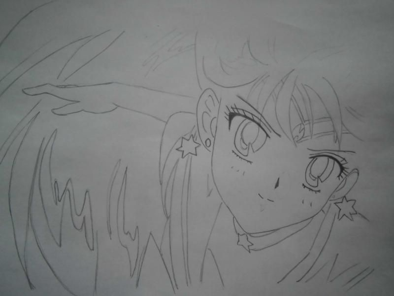 As will learn to draw an anime the girl in earphones 5