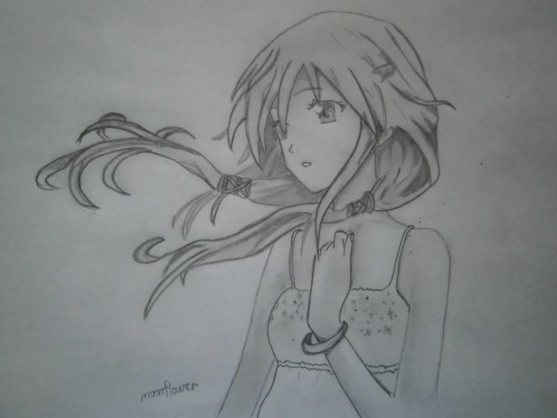 How to draw to Inori Yudzurikh from Guilty Crown with a pencil