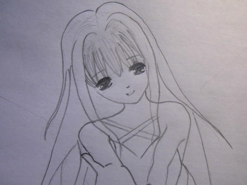 How to draw the winking Haruhi Suzumiya step by step 5