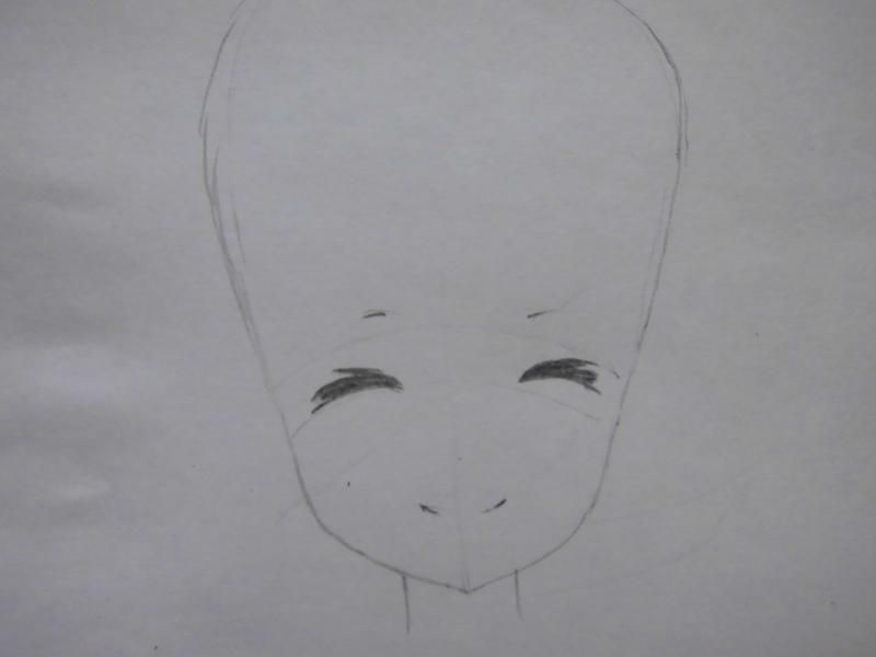 How to draw the guy's anime a fox with a pencil step by step 3