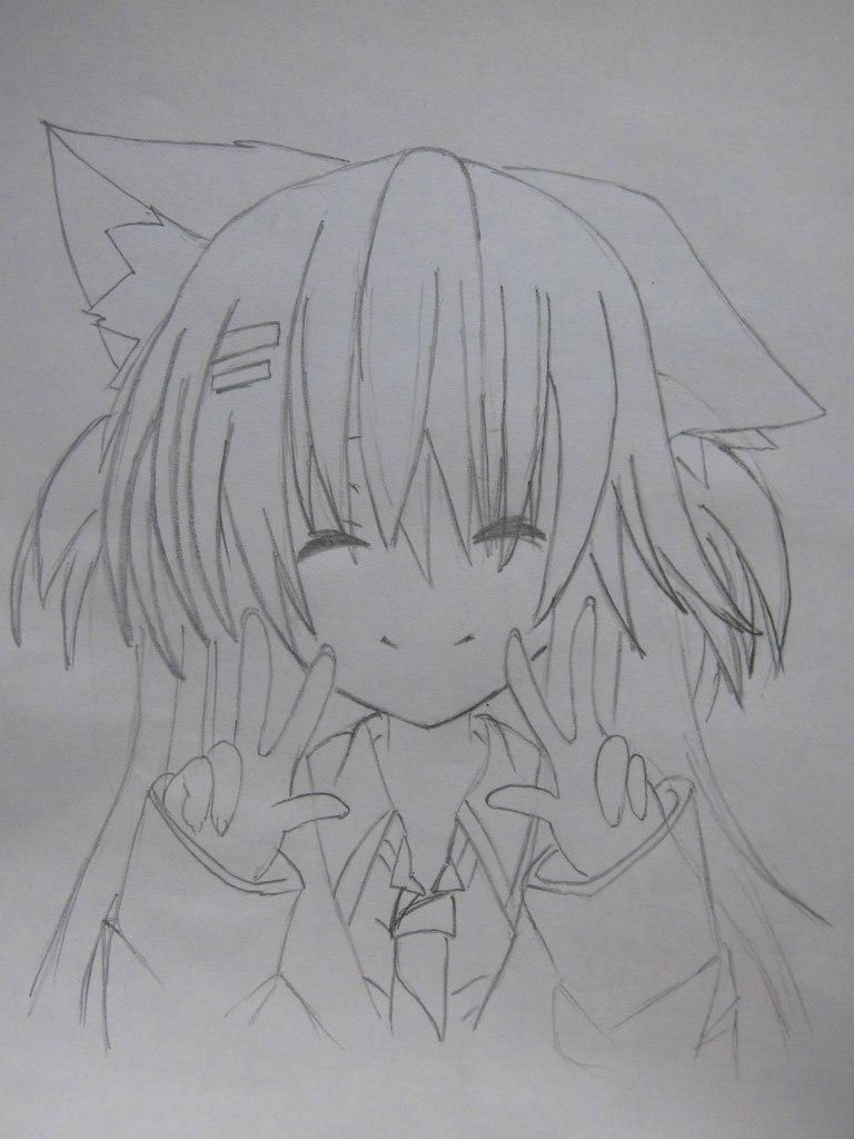 How to draw the guy's anime a fox with a pencil step by step 6