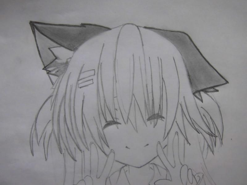 How to draw the guy's anime a fox with a pencil step by step 7