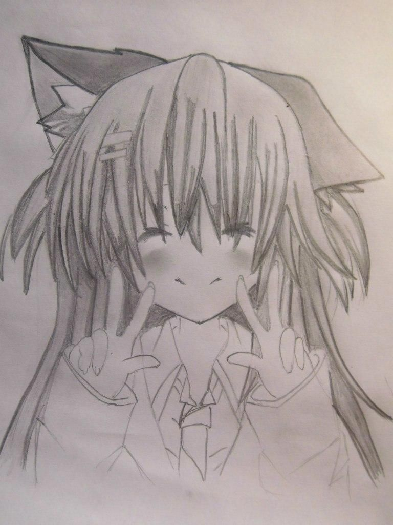 How to draw the guy's anime a fox with a pencil step by step 8