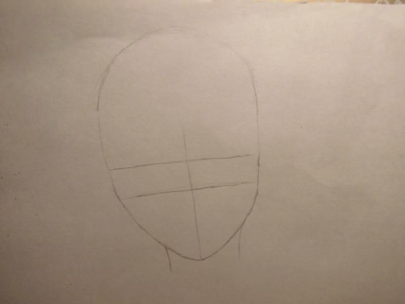 How to draw Chiya from Chobitov with a pencil step by step 2
