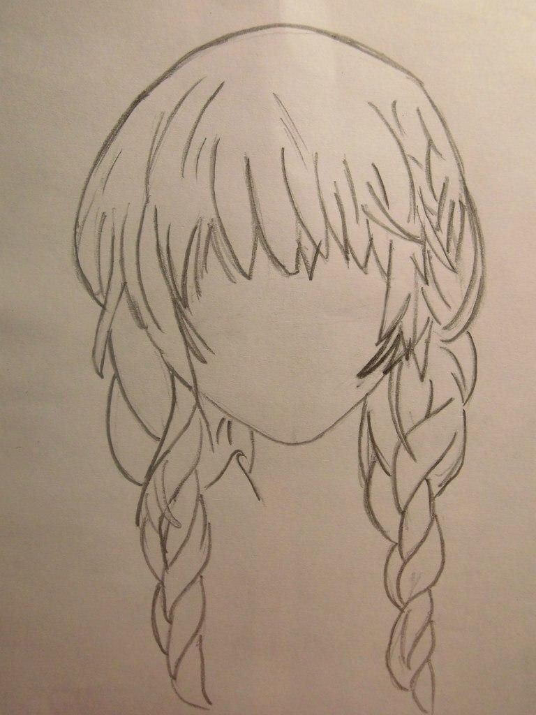 How to draw Chiya from Chobitov with a pencil step by step 3