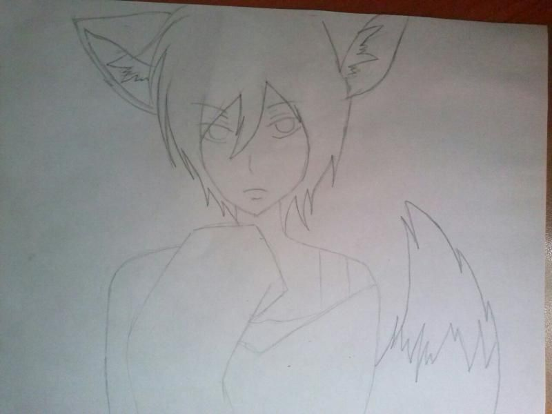 How to draw Hibari Kyoya from an anime of Reborn with a pencil step by step 4