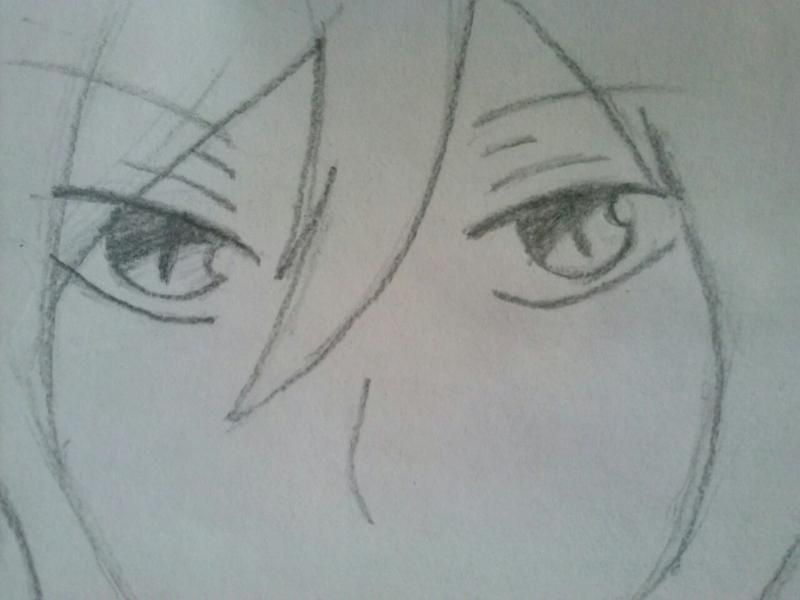 How to draw Hibari Kyoya from an anime of Reborn with a pencil step by step 6