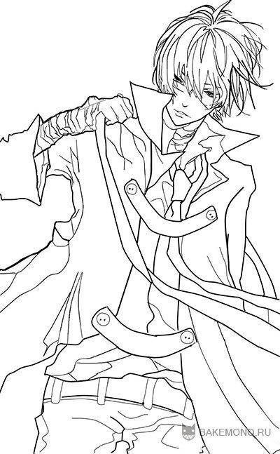 How to draw Hibari Kyoya from an anime of Reborn with a pencil step by step