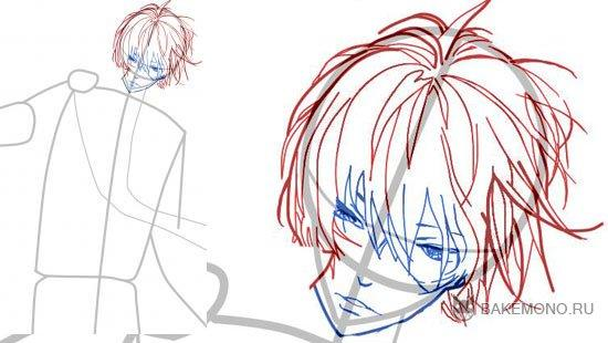 How to draw Usui Takuya from an anime the President of student council - the maid 4