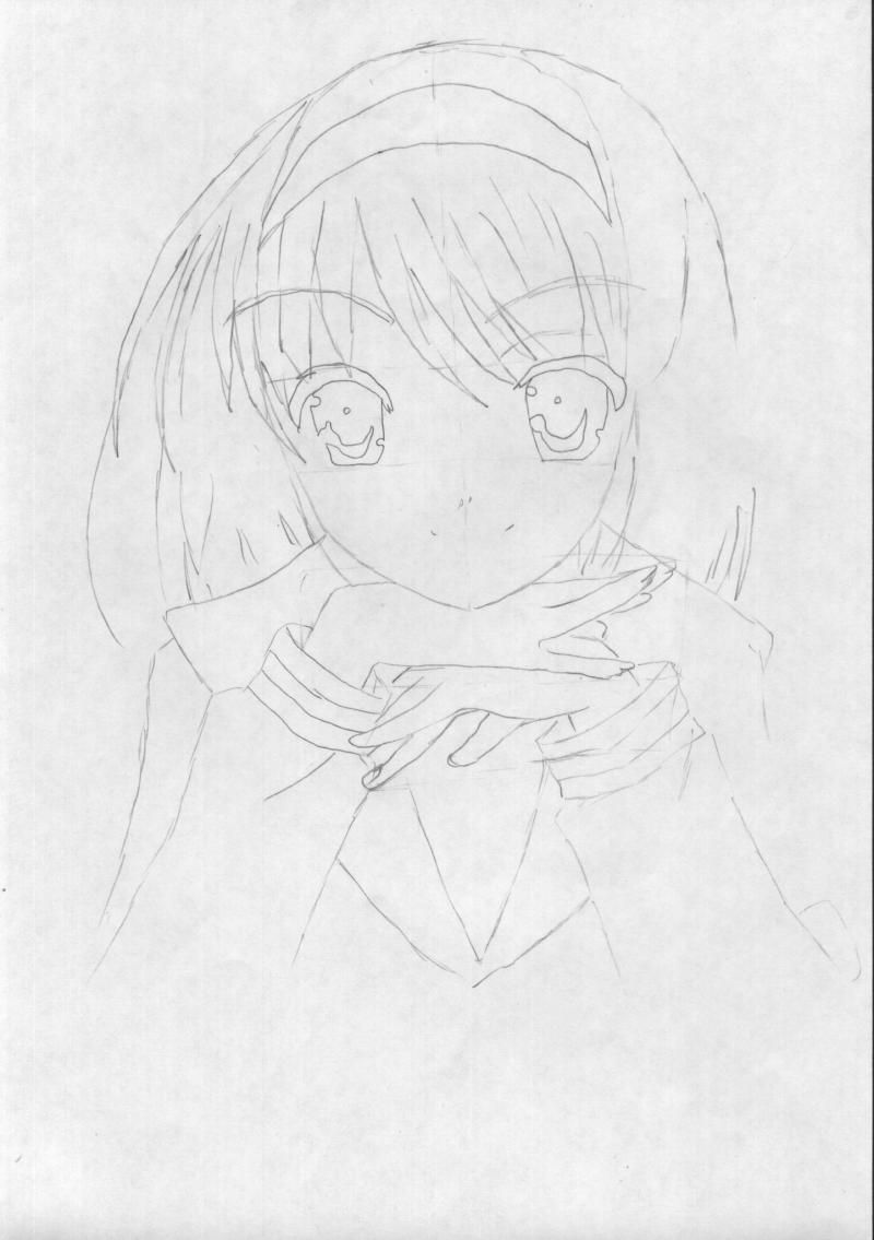 How to draw Usagi, the Baby, Chibi-chibi with a pencil 2