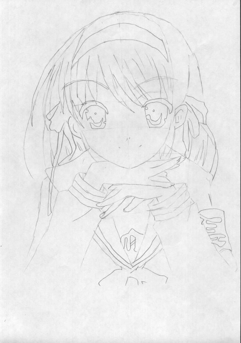 How to draw Usagi, the Baby, Chibi-chibi with a pencil 3