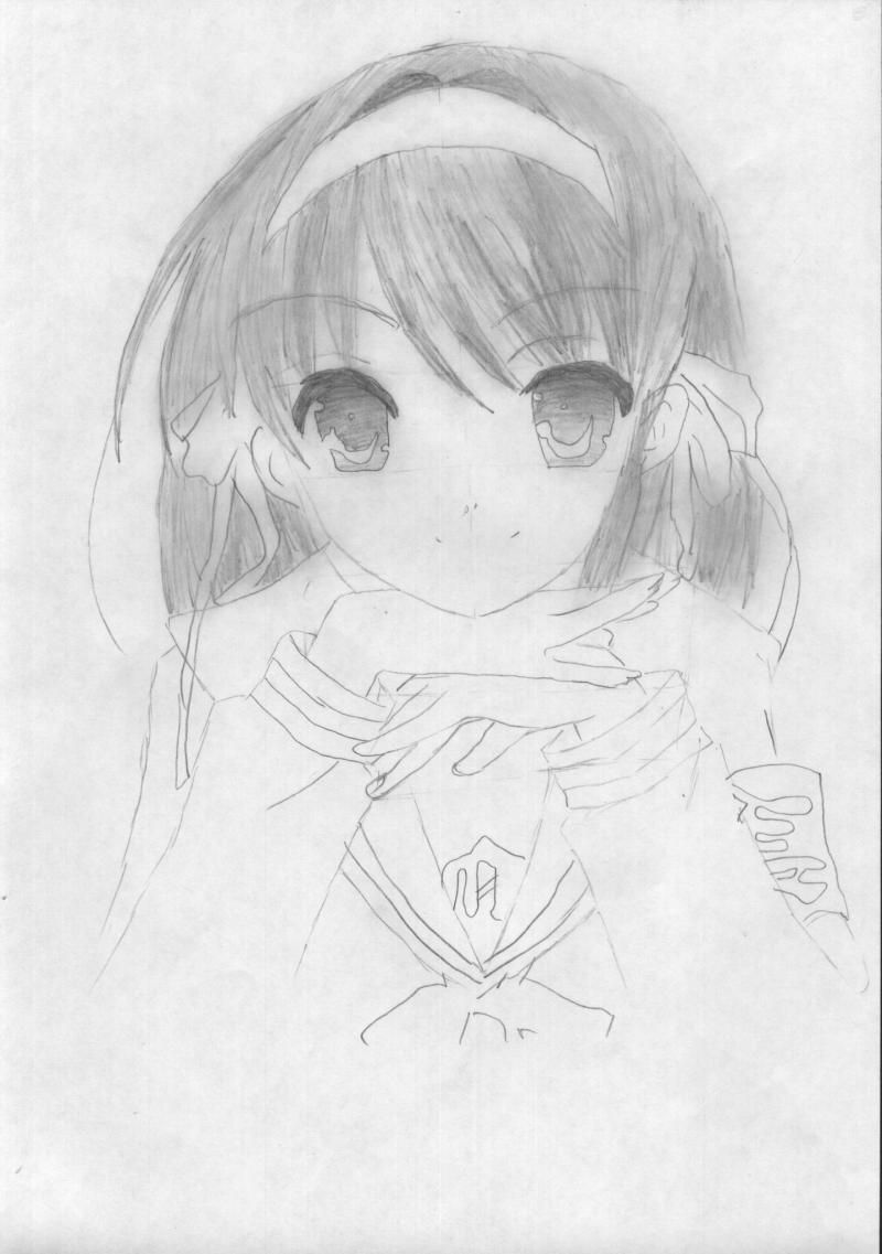 How to draw Usagi, the Baby, Chibi-chibi with a pencil 4