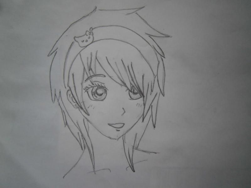 How to draw the darling of an anime the girl with a pencil 4