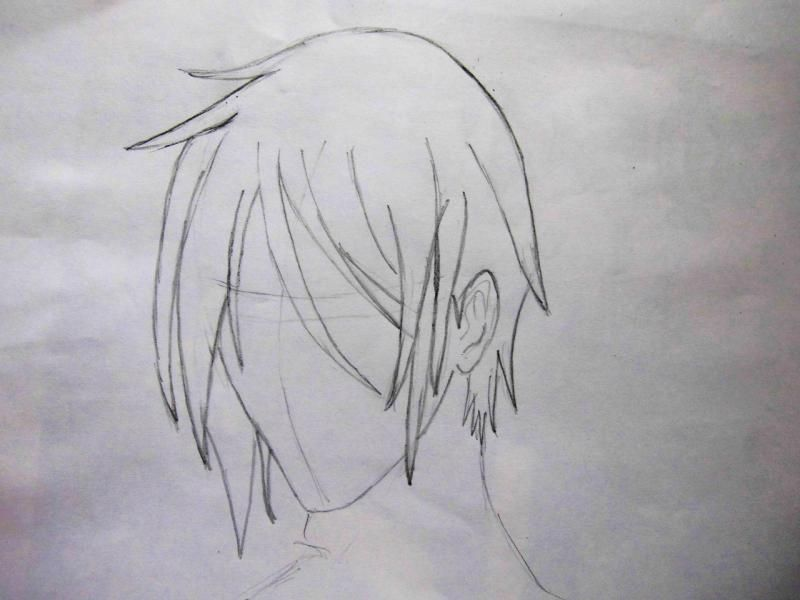 How to draw Kazuto Kirigaye from the master throwing online a pencil on papers 3