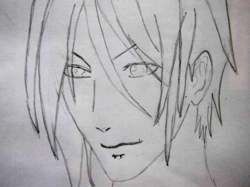 How to draw Kazuto Kirigaye from the master throwing online a pencil on papers 4