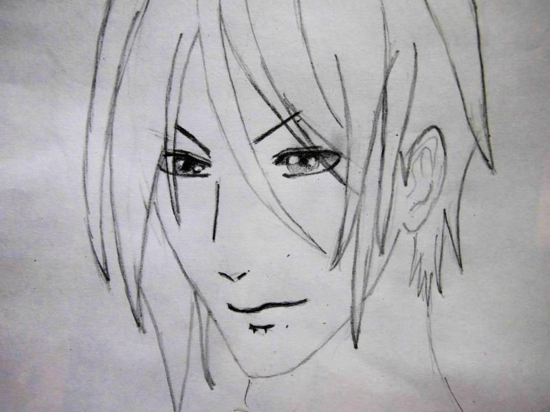 How to draw Kazuto Kirigaye from the master throwing online a pencil on papers 5