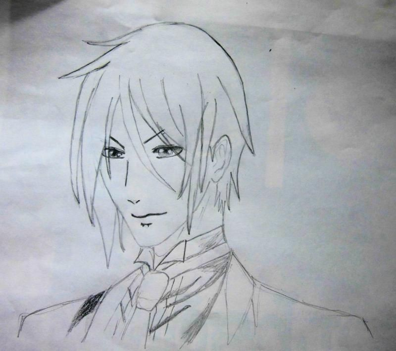 How to draw Kazuto Kirigaye from the master throwing online a pencil on papers 6