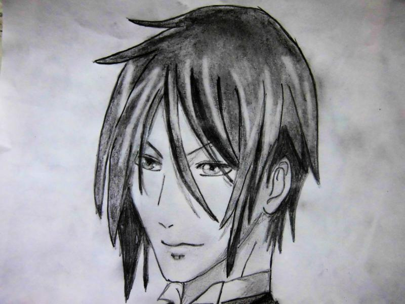 How to draw Kazuto Kirigaye from the master throwing online a pencil on papers 7