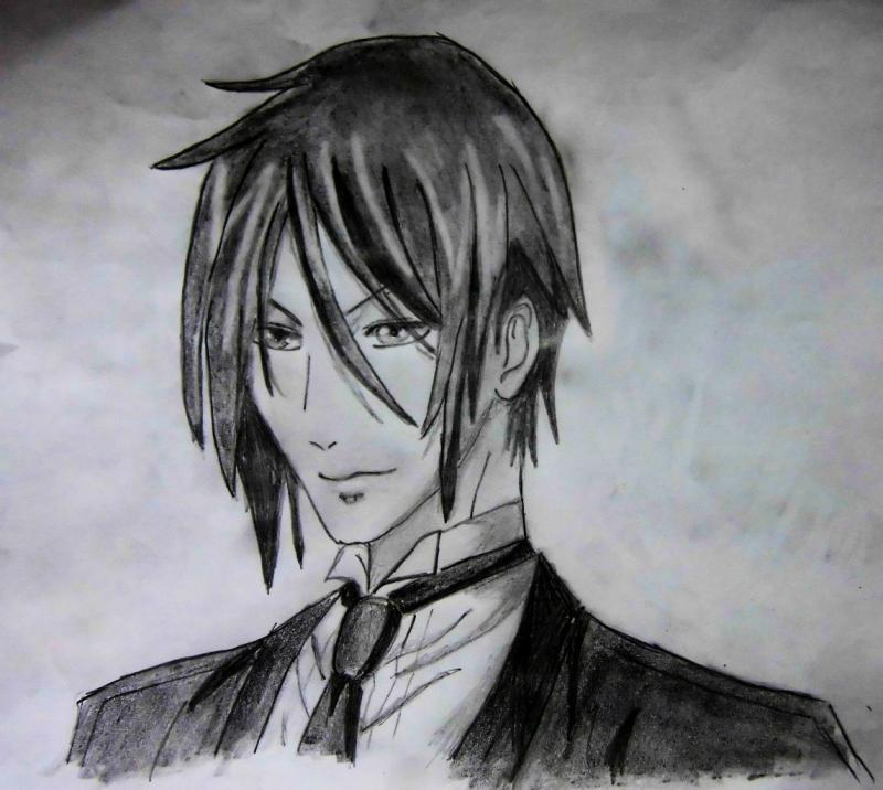 How to draw Sebastian from the dark butler with a pencil