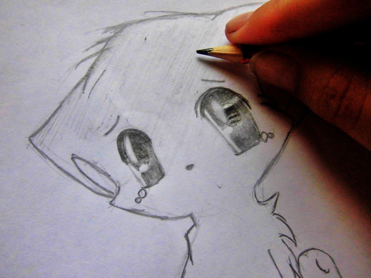 How to draw Naruto with a pencil on paper 7