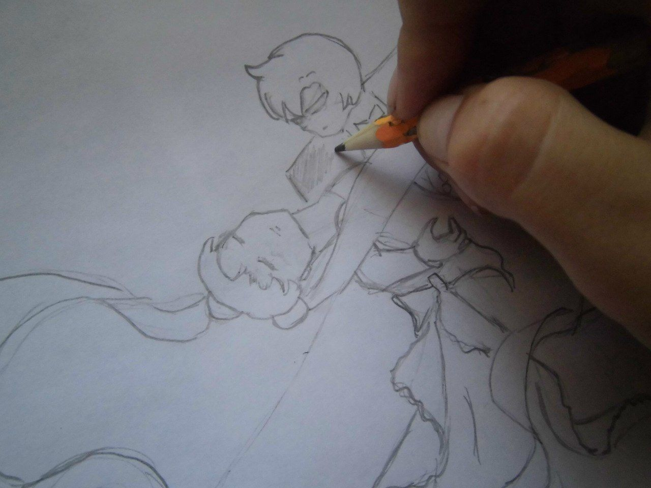 How to draw Sesshomaru to the utmost with a pencil step by step 4