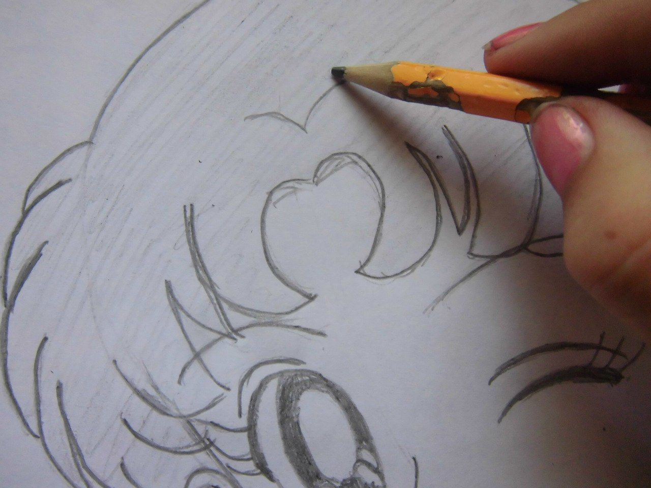 How to draw Alois Trancy from Black Butler with a pencil step by step 6