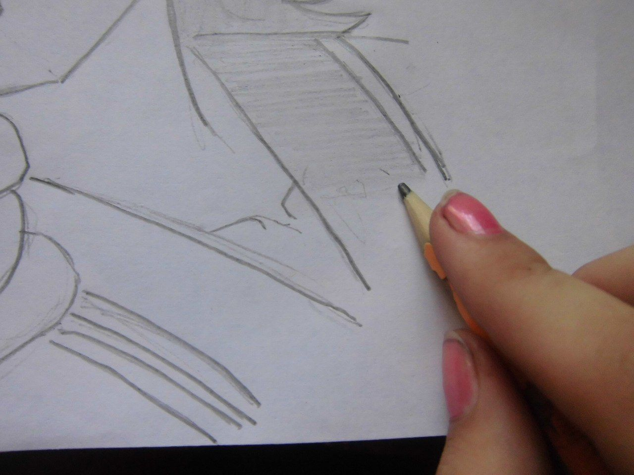 How to draw Alois Trancy from Black Butler with a pencil step by step 7