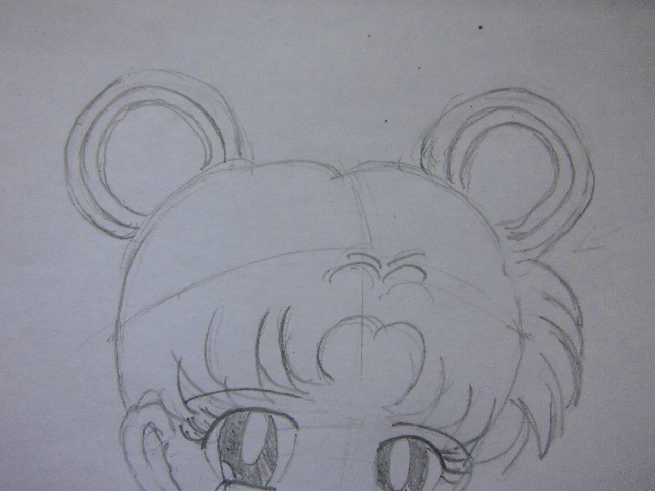 How to draw Yuzuru Otonashi from Angel Beats with a pencil step by step 14