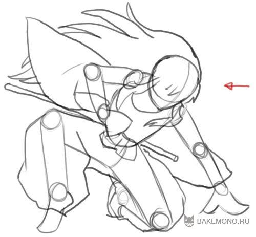 How to draw an anime angel with a violin a pencil step by step 5