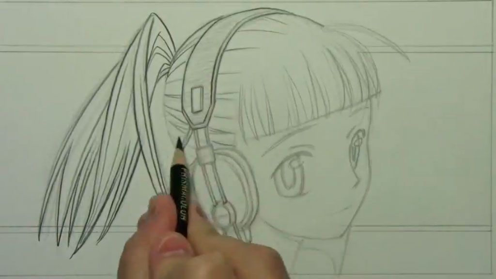 How to draw the girl lying on a bed of an anime step by step 6