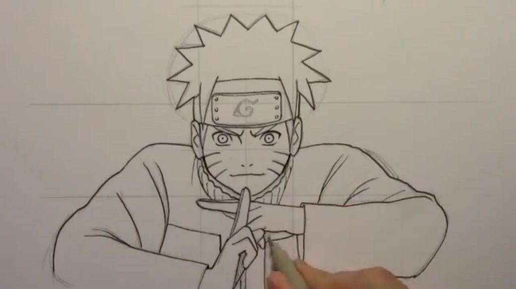 How to draw Naruto Udzumaki step by step