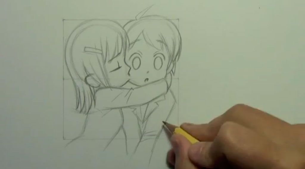How to draw an anime the girl step by step 8