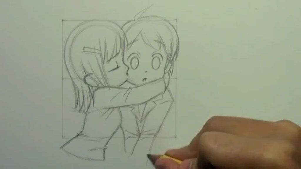 How to draw an anime the girl step by step 9