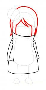 How to draw Yuki Sohma in the Human Form step by step 4
