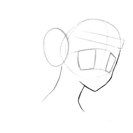 How to draw the demon Fox step by step 3