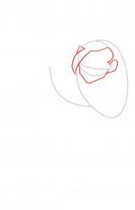 How to draw Kakasha's face step by step 2